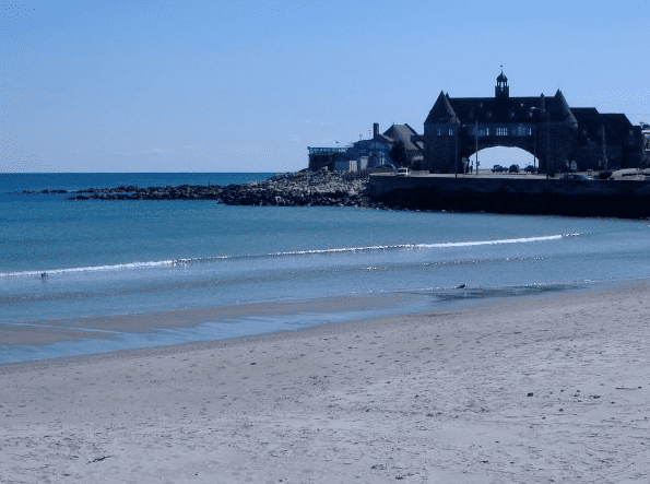 photo of Narragansett Towers & Narragansett Town Beach, Rhode Island