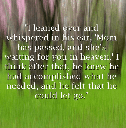 quote from an obituary about a loving couple that died within hours of each other