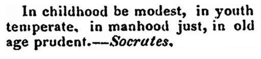 article about Socrates, Camden Mail and General Advertiser newspaper article 21 May 1834
