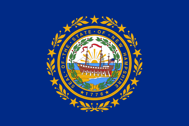 illustration: state flag of New Hampshire