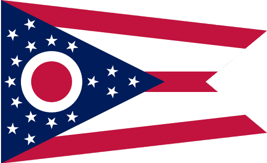 illustration of the state flag of Ohio