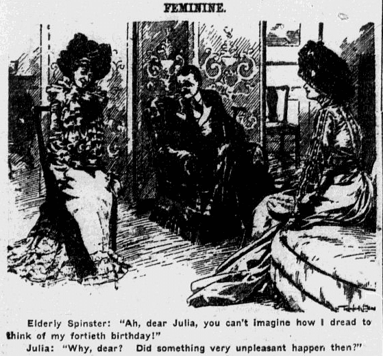 birthday cartoon, Omaha World-Herald birthday cartoon 20 April 1902