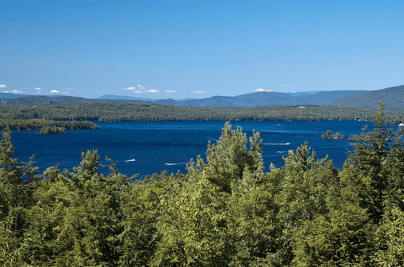 photo of Lake Winnipesaukee and the Ossipee Mountains, New Hampshire