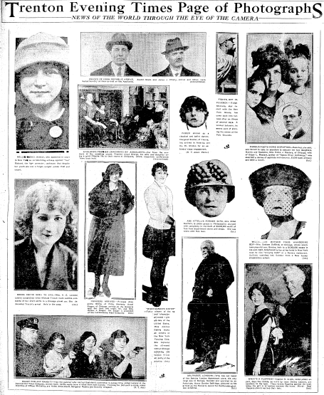 Page of Photographs, Trenton Evening Times newspaper article 27 March 1922