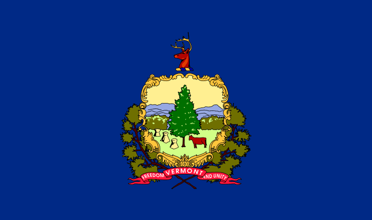 illustration of the state flag of Vermont