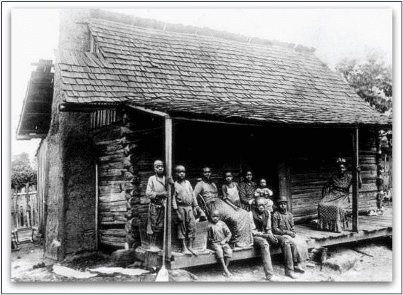 photo of a slave cabin