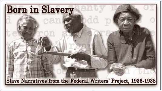 a photo of three ex-slaves interviewed for the by the Federal Writers' Project from 1936-1938