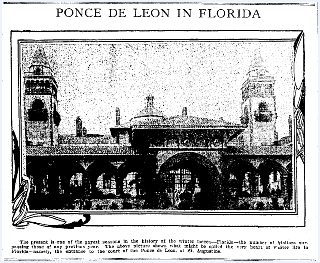 photo of the Ponce de Leon building in St. Augustine, Florida