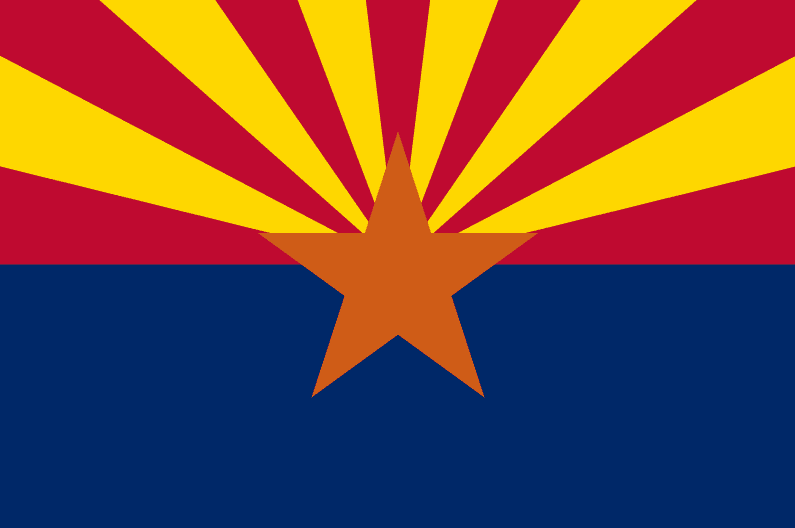 illustration: state flag of Arizona