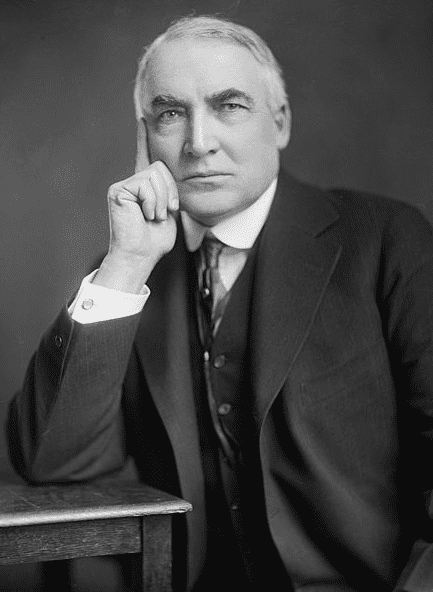 photo of Warren G. Harding, by Harris & Ewing, c. 1920