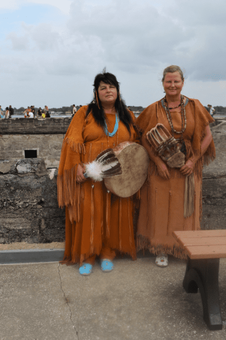 photo of Cherokee women at the 450th anniversary celebration at St. Augustine, Florida