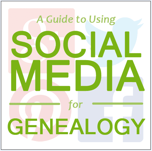 graphic to illustrate an article on using social media for genealogy