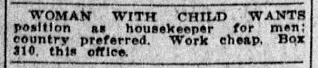 personal ad, San Jose Mercury News newspaper advertisement 4 September 1915