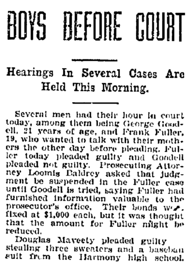 article about court hearings, Bellingham Herald newspaper article 29 January 1921