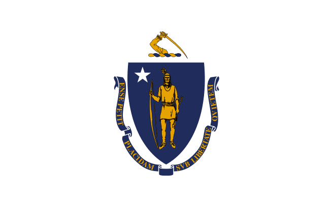 illustration: state flag of Massachusetts