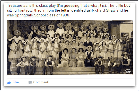 photo of a Springdale School play from 1936