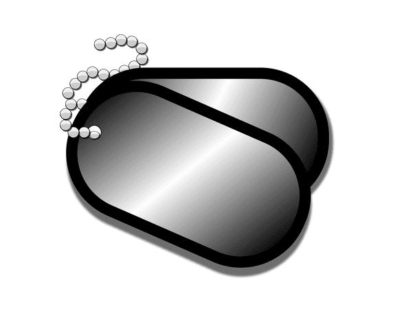 illustration: military dog tags