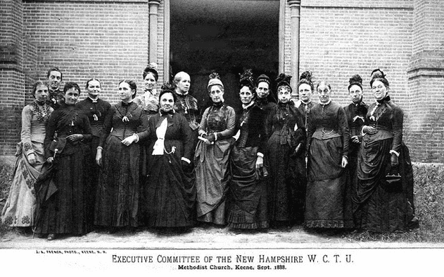 photo of WCTU members of the New Hampshire chapter, 1888