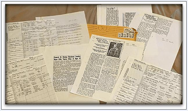 photo of genealogy correspondence