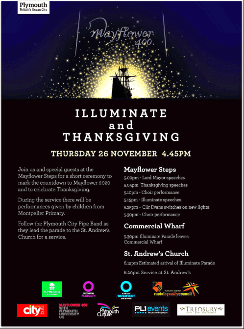 "photo of an ""Illuminate and Thanksgiving"" poster"