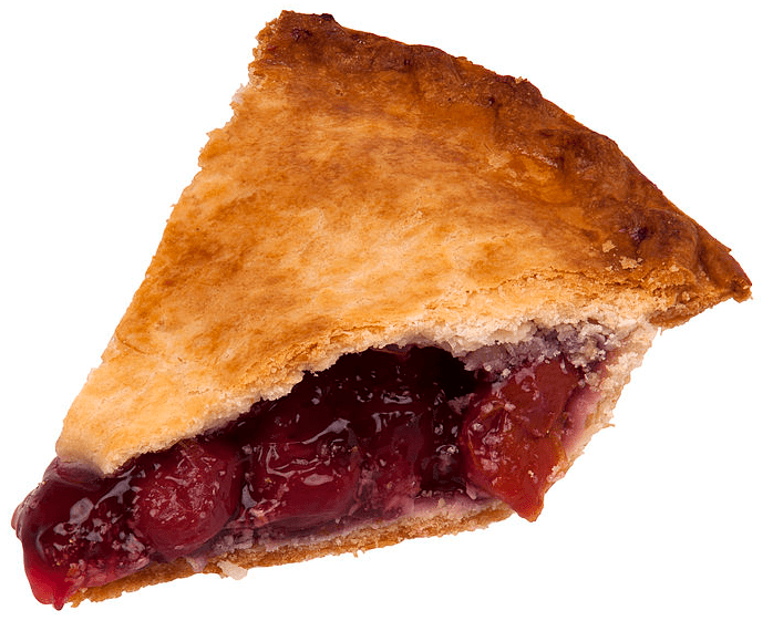photo of a slice of cherry pie