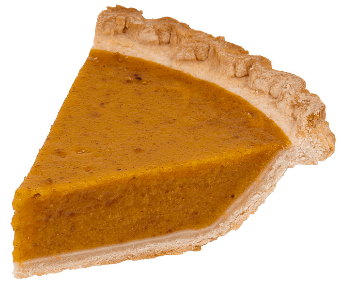 photo of a slice of pumpkin pie