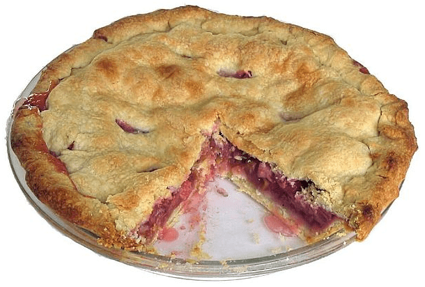 photo of a rhubarb pie