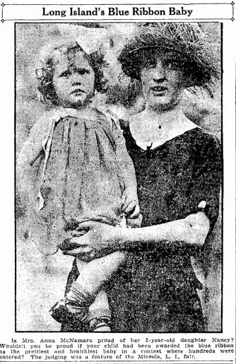 photo of Anna McNamara and her daughter Nancy, Salt Lake Telegram newspaper article 1 November 1921