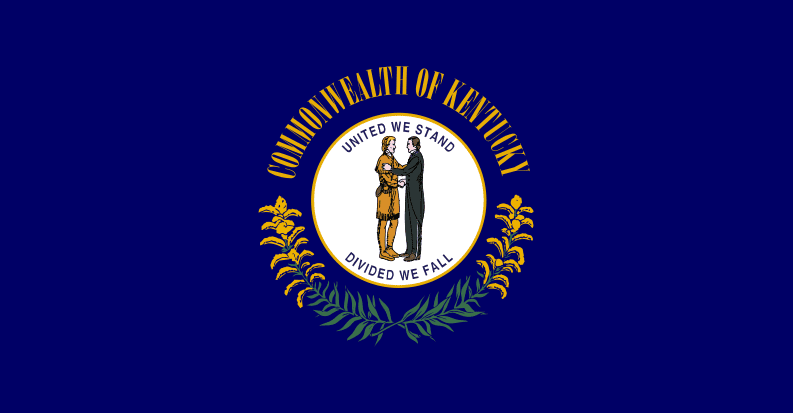 Illustration: Kentucky state flag.