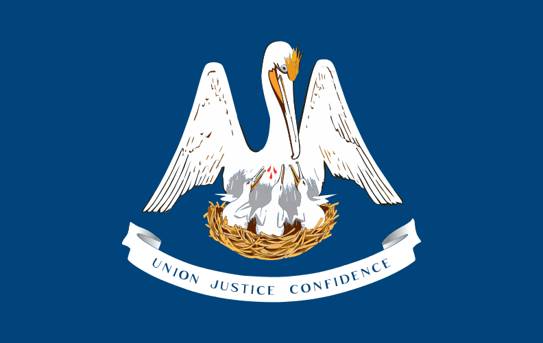 illustration of the Louisiana state flag