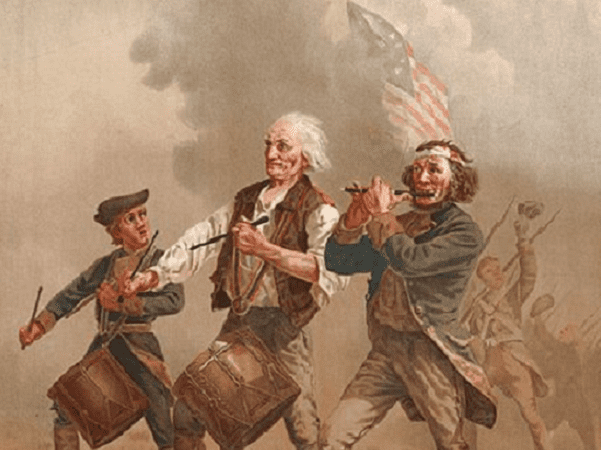 "Painting: ""Yankee Doodle,"" aka ""The Spirit of '76,"" by Archibald Willard. Credit: Wikimedia Commons."
