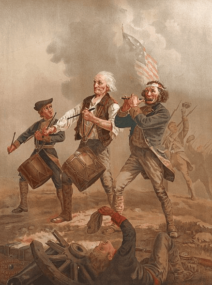 "painting: ""Yankee Doodle,"" aka ""The Spirit of '76,"" by Archibald Willard"