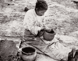 photo of Rachel Brown, a Catawba potter, c. 1908