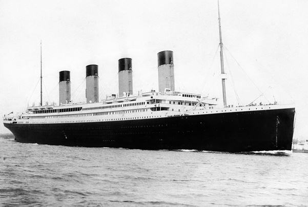 Photo: the Titanic departing Southampton, England, on 10 April 1912. Credit: F. G. O. Stuart; Wikipedia.