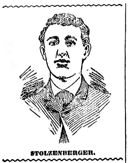 picture of Louis Stolzenberger, Cincinnati Post newspaper article 28 February 1895
