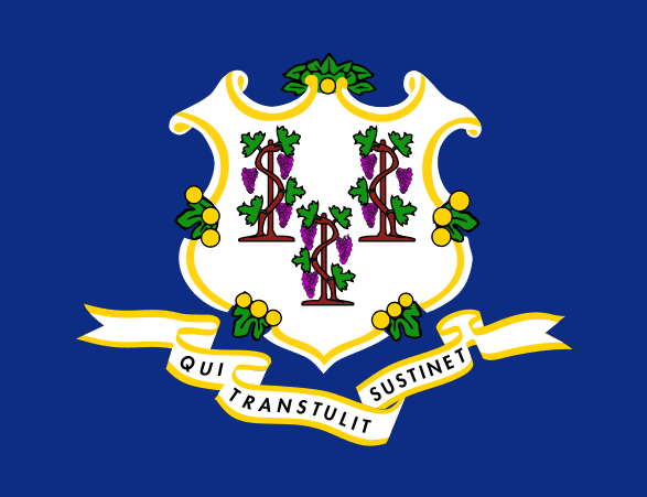 Illustration: Connecticut state flag