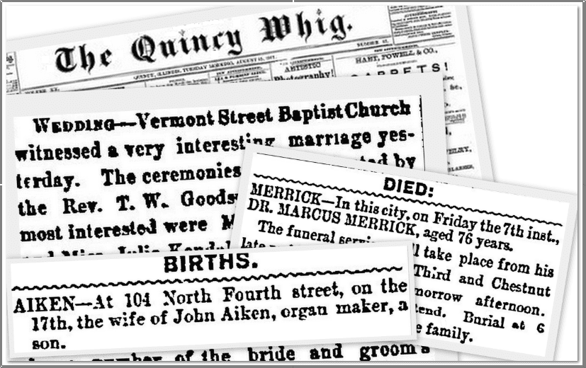 montage of newspaper articles