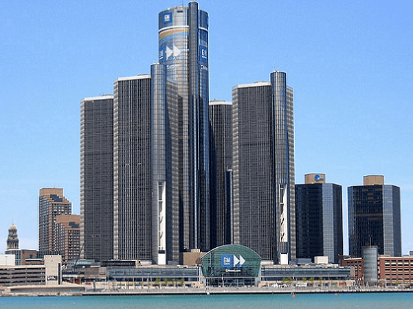 Photo: skyscrapers in downtown Detroit, Michigan. Credit: Ritcheypro; Wikimedia Commons.