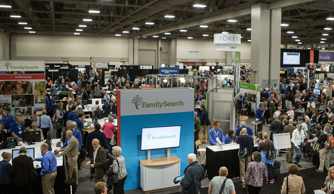 Photo: Expo Hall at RootsTech