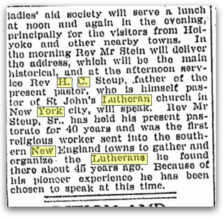 article about H. C. Steup, Springfield Republican newspaper article 13 September 1919
