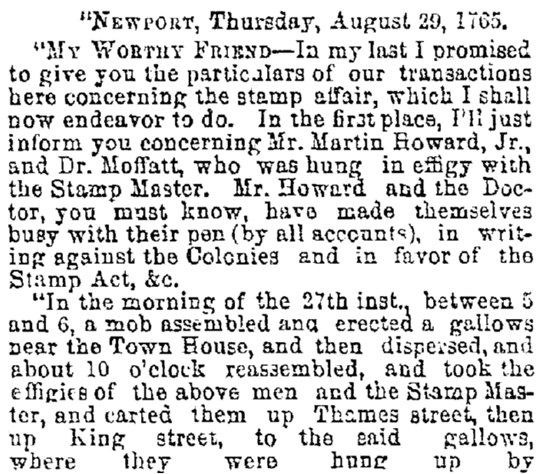 article about Martin Howard, Cincinnati Daily Gazette newspaper article 30 July 1869
