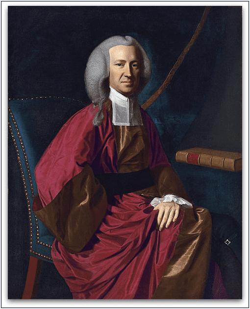 Painting: Judge Martin Howard, by John Singleton Copley, 1767. Source: Wikimedia Commons.