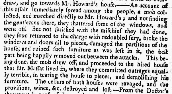 article about Martin Howard, New-York Mercury newspaper article 9 September 1765
