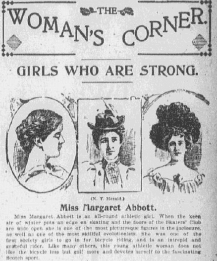 article about Margaret Abbott, Boston Journal newspaper article 7 June 1898