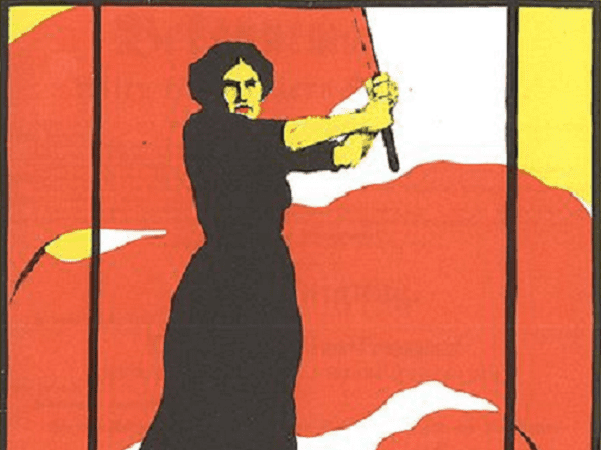 Illustration: detail of a poster for International Women's Day, 8 March 1914, promoting voting rights for women. Source: Wikimedia Commons.
