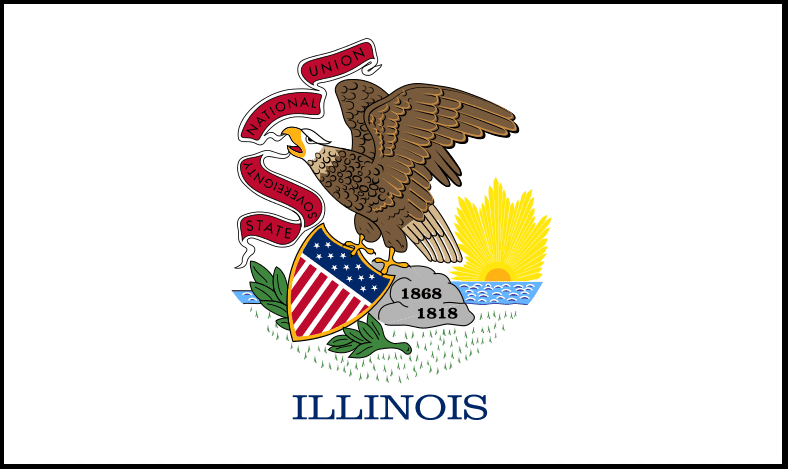 Illustration: Illinois state flag