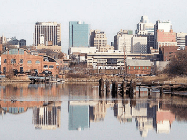 Photo: downtown Wilmington, Delaware, and the Christina River. Credit: Tim Kiser; Wikimedia Commons.