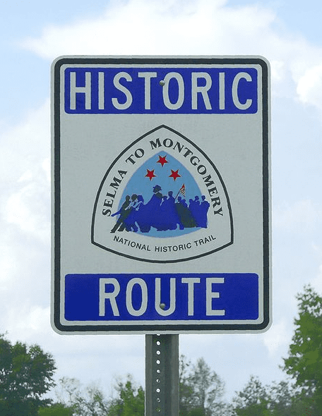 Photo: sign for the Selma to Montgomery National Historic Trail