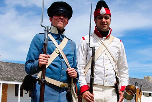 Two Soldiers from the Mexican American War Reenactment