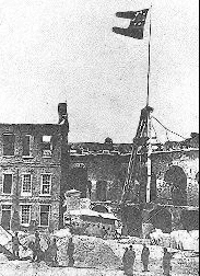 Photo: Confederate flag flying over Fort Sumter, 15 April 1861
